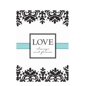 Always and Forever Folded Invitations- 8ct