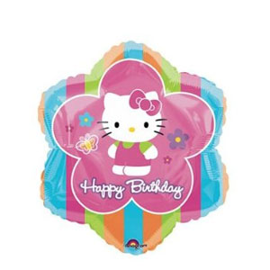 Hello Kitty Happy Birthday Flower Balloon- 18 Inch