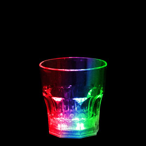 LED 8oz Liquid Activated Flashing Rocks Glass - Multicolor