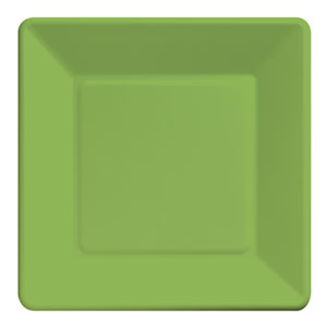 Citrus Green Square 9 Inch Plates