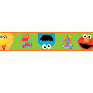 Sesame Street 1st Birthday Crepe Streamer - 30ft