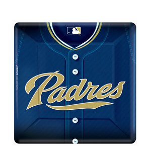 San Diego Padres Square 10 Inch Plates- 18ct
