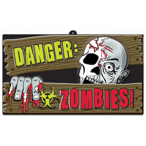 Zombie Sign 17 in.