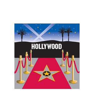 Reel Hollywood Hollywood Luncheon Napkins- 16ct