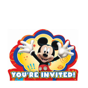 Mickey Invitations- 8ct