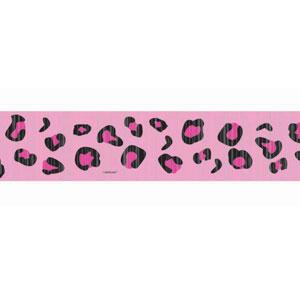 Pink Leopard Print Crepe Paper - 81ft
