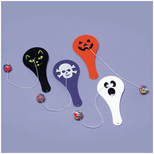 Halloween Paddle Ball- 12ct