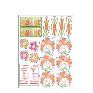 Cheerful Bunny Value Stickers