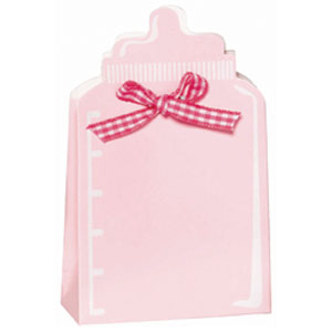 Bottle Baby Shower Favor Box Kit - Pink