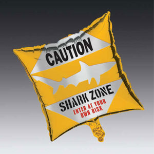 Shark Splash Square Metallic Balloon