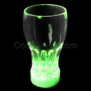 LED 12oz Flashing Cup - Green