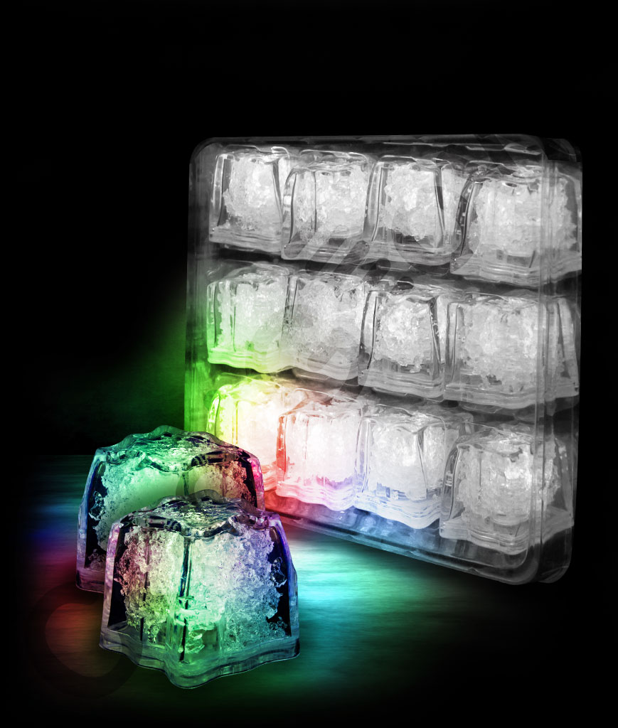 LED Litecubes Brand Ice Cubes - Multicolor