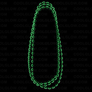 Football Shape Beads- Metallic Green