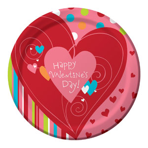 Happy Heart 9 Inch Plates