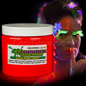 Glow Body Paint Pint - Red
