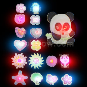 LED Flashing Rings - Assorted Designs