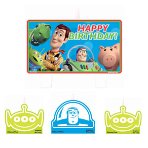 Toy Story 3  Mini Molded Candles- 4ct