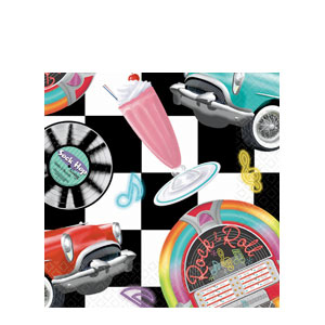 Sock Hop Luncheon Napkins- 16ct