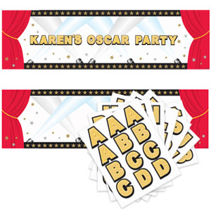 Hollywood Personalized Giant Sign Banner- 65in