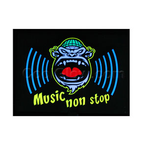 LED Sound Activated Patch - Non-Stop Music