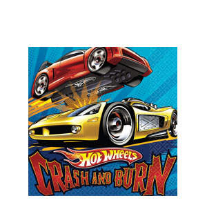 Hot Wheels Luncheon Napkins- 16ct