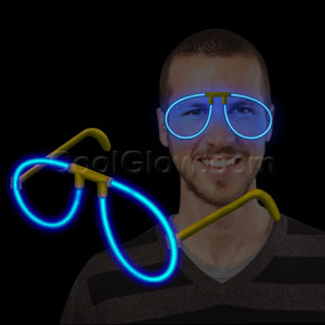 Fun Central P83 Glow in the Dark Eye Glasses - Blue