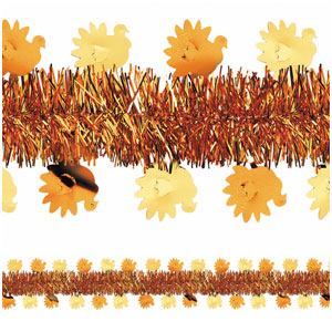 Turkey Tinsel Garland- 15ft