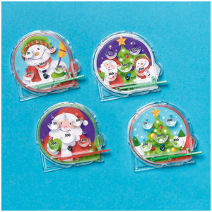 Christmas Mini Pinball Games- 12ct