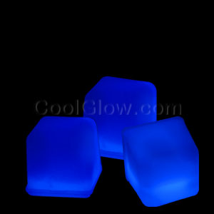 Glowing Ice Cubes - Blue