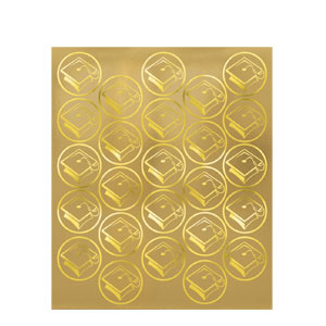Grad Seals Gold- 50ct