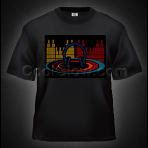 LED Sound Activated T-Shirt - Gradient Headphones