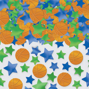 Basketball Metallic Confetti