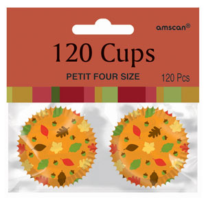 Fall Mini Cupcake Cases- 120ct