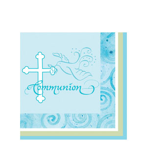 Communion Luncheon Napkin - Blue