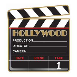 Hollywood Clapboard Cutout- 1ct