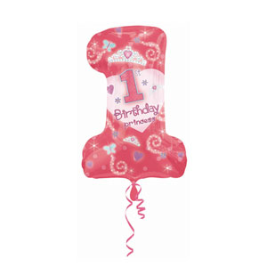 First Birthday Princess Balloon - SuperShape