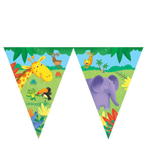 Jungle Buddies Flag Banner