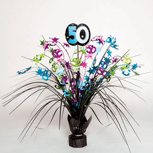 The Party Continues - 50 Spray Centerpiece- 15in