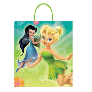 Disney Tinkerbell Plastic Handle Treat Bag- 16in