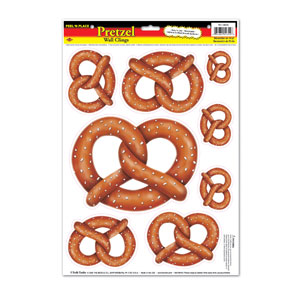 Pretzel Stickers - 8sh
