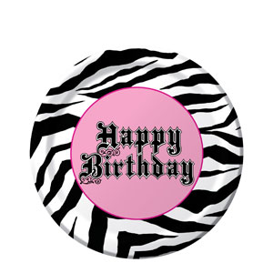 Super Stylish 7 Inch Birthday Plate