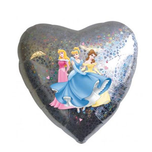 Princess Love Holographic Balloon- 18 Inch