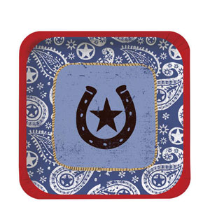 Western Lasso 9 Inch Plates- 8ct