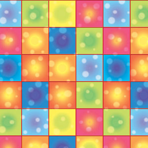Disco Boogie Squares Room Roll- 40ft