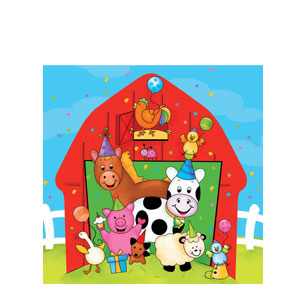 Barnyard Bash Luncheon Napkins- 16ct