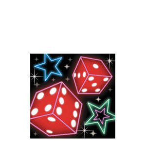 Casino Party Beverage Napkins- 16ct