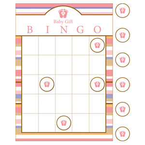 Tiny Toes Pink Bingo Game