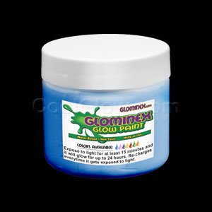 Glominex Glow Paint 8 oz Jar Blue