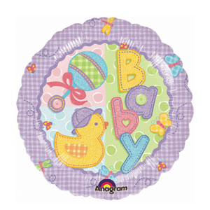 Hugs and Stitches Baby Balloon - 18 Inch