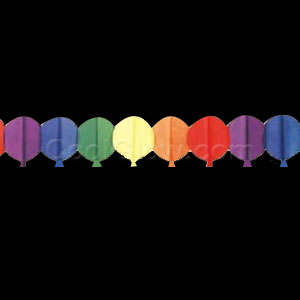 Multicolor Balloons Paper Garland - 12ft
